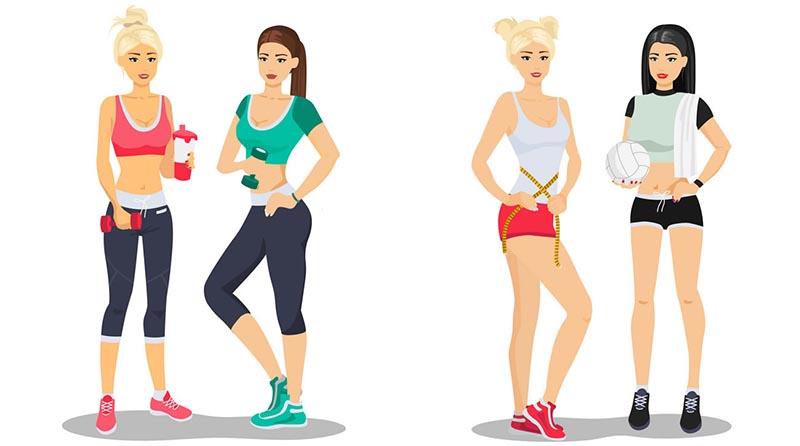 برنامه تمرینی بانوان با هدف افزایش حجم و وزن